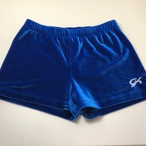 Blue Micro Mini GK Gymnastics Shorts